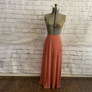 """Lily White coral""""ish"""" maxi skirt"""
